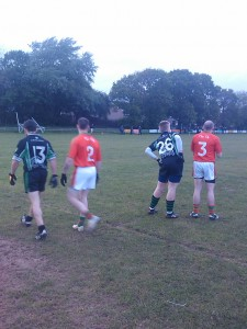 Killeavy Full forward line awaits the ball