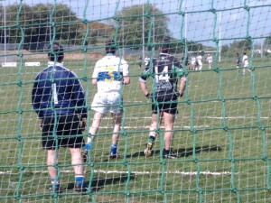 The Killeavy full-forward waiting for a pass that didnt come